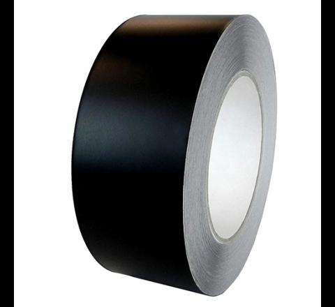 AF-20A-B - Matte Black Acrylic Adhesive Aluminum Foil Tape w/Liner