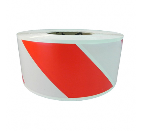 BRC-R&W - Red/White Striped Barricade Tape