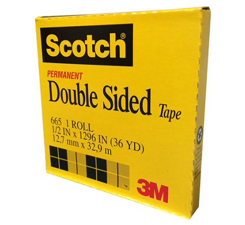 DC-665 - Linerless/Repositionable Double Sided Tape