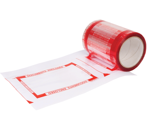 DE6X8 - Documents Enclosed Pouch Tape Roll