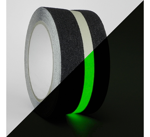 NST-20GS - Black With Glow Insert Non-Skid Safety Tapes