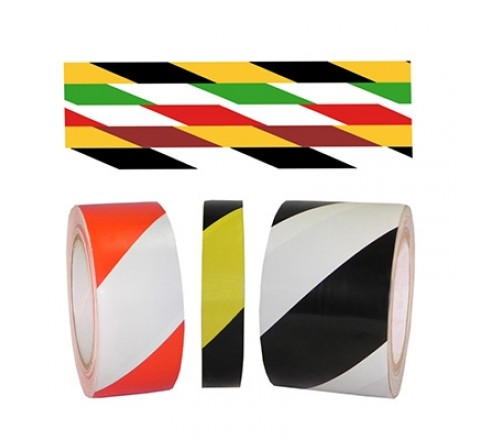 SST-618 & 636 - 6 Mil Striped Safety Warning Tapes (18 or 36 yard)