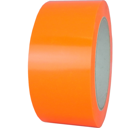 UPVC-25F - 2.5 Mil UPVC Fluorescent Orange Carton Sealing Tape
