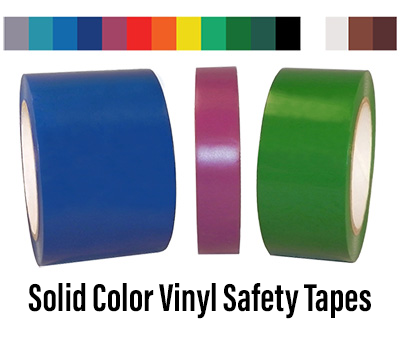 Solid Color Vinyl Safety Tapes